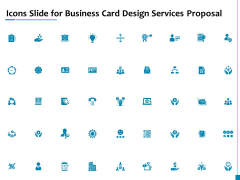 Icons Slide For Business Card Design Services Proposal Professional PDF