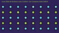 Icons Slide For Business Case Contest Car Company Sales Deficit Designs PDF