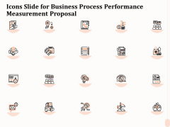 Icons Slide For Business Process Performance Measurement Proposal Guidelines PDF