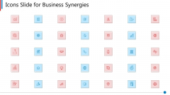 Icons Slide For Business Synergies Ppt Pictures Design Ideas PDF