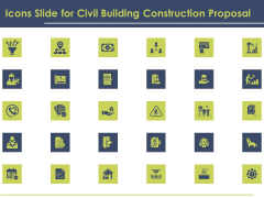 Icons Slide For Civil Building Construction Proposal Summary PDF