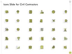 Icons Slide For Civil Contractors Ppt Summary Portrait PDF