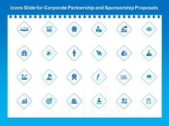 Icons Slide For Corporate Partnership And Sponsorship Proposals Topics PDF