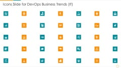 Icons Slide For Devops Business Trends IT Ppt Professional Icon PDF
