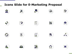 Icons Slide For E Marketing Proposal Ppt Infographics Vector PDF