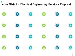 Icons Slide For Electrical Engineering Services Proposal Ppt Infographic Template Graphics PDF