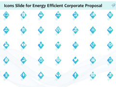 Icons Slide For Energy Efficient Corporate Proposal Ppt Outline Graphics PDF