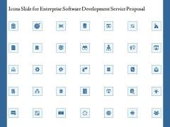 Icons Slide For Enterprise Software Development Service Proposal Structure PDF