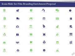 Icons Slide For Film Branding Enrichment Proposal Sample PDF