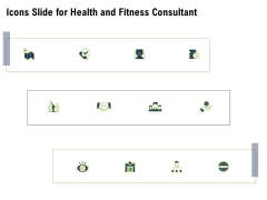 Icons Slide For Health And Fitness Consultant Pictures PDF