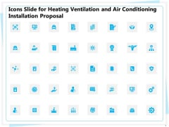 Icons Slide For Heating Ventilation And Air Conditioning Installation Proposal Ppt Layouts Infographics PDF