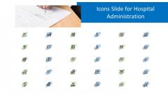 Icons Slide For Hospital Administration Ppt Portfolio Deck PDF
