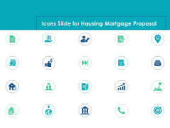 Icons Slide For Housing Mortgage Proposal Ppt Pictures Ideas PDF