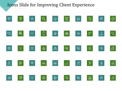 Icons Slide For Improving Client Experience Diagrams PDF