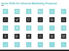 Icons Slide For Inbound Marketing Proposal Background PDF