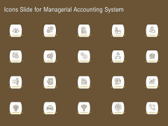 Icons Slide For Managerial Accounting System Ppt Summary Example Introduction PDF