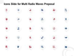 Icons Slide For Multi Radio Waves Proposal Demonstration PDF