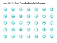 Icons Slide For Music Promotion Consultation Proposal Introduction PDF