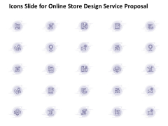 Icons Slide For Online Store Design Service Proposal Ppt PowerPoint Presentation Show Display