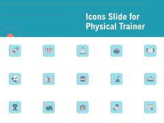 Icons Slide For Physical Trainer Microsoft PDF