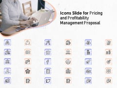 Icons Slide For Pricing And Profitability Management Proposal Topics PDF