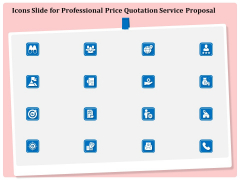 Icons Slide For Professional Price Quotation Service Proposal Ppt Infographics Inspiration PDF