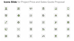 Icons Slide For Project Price And Sales Quote Proposal Rules PDF