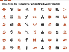 Icons Slide For Request For A Sporting Event Proposal Ppt Infographic Template Display PDF