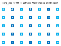 Icons Slide For Rfp For Software Maintenance And Support Clipart PDF