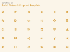 Icons Slide For Social Network Proposal Template Icons Ppt Professional Guidelines PDF