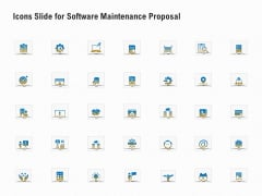 Icons Slide For Software Maintenance Proposal Ppt PowerPoint Presentation Layouts Maker PDF