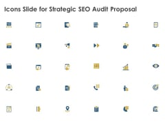 Icons Slide For Strategic SEO Audit Proposal Template PDF