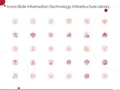Icons Slide Information Technology Infrastructure Library Ppt Slides Information PDF