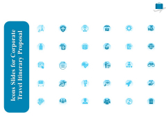 Icons Slides For Corporate Travel Itinerary Proposal Ppt Inspiration Graphics Tutorials PDF