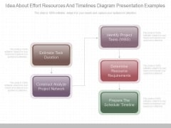 Idea About Effort Resources And Timelines Diagram Presentation Examples