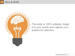 Idea And Bulb Ppt PowerPoint Presentation Guidelines