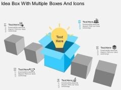 Idea Box With Multiple Boxes And Icons Powerpoint Template