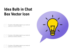 Idea Bulb In Chat Box Vector Icon Ppt PowerPoint Presentation Background Designs
