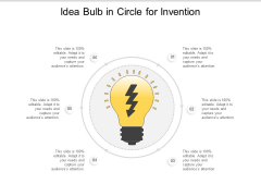 Idea Bulb In Circle For Invention Ppt Powerpoint Presentation Model Sample