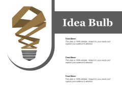 Idea Bulb Ppt PowerPoint Presentation Ideas Pictures