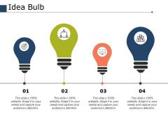 Idea Bulb Ppt PowerPoint Presentation Infographic Template Portfolio