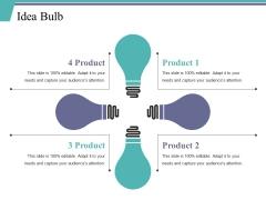 Idea Bulb Ppt PowerPoint Presentation Professional Backgrounds