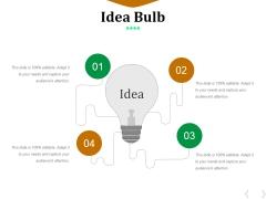 Idea Bulb Ppt PowerPoint Presentation Summary Maker