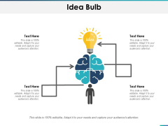 Idea Bulb Technology Planning Ppt PowerPoint Presentation Show