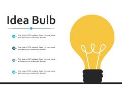 Idea Bulb Technology Ppt Powerpoint Presentation Summary Guidelines