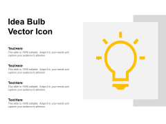 Idea Bulb Vector Icon Ppt PowerPoint Presentation Professional Slide Download