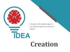 Idea Creation Ppt PowerPoint Presentation Summary Shapes
