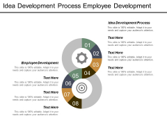Idea Development Process Employee Development Ppt PowerPoint Presentation Gallery Slides