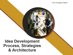 Idea Development Process Strategies And Architecture PowerPoint Presentation Complete Deck With Slides