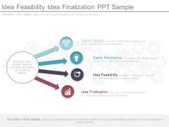 Idea Feasibility Idea Finalization Ppt Sample